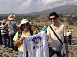 Con mi hermana del alma en Teotihuacan